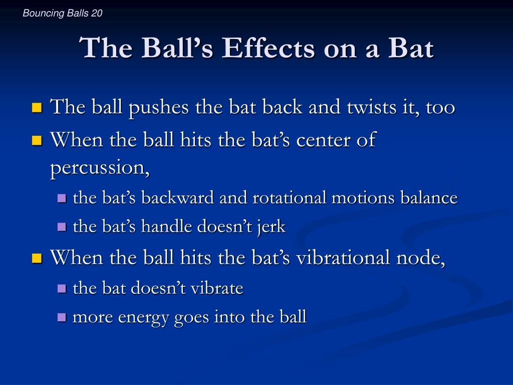The Ball's Effects on a Bat