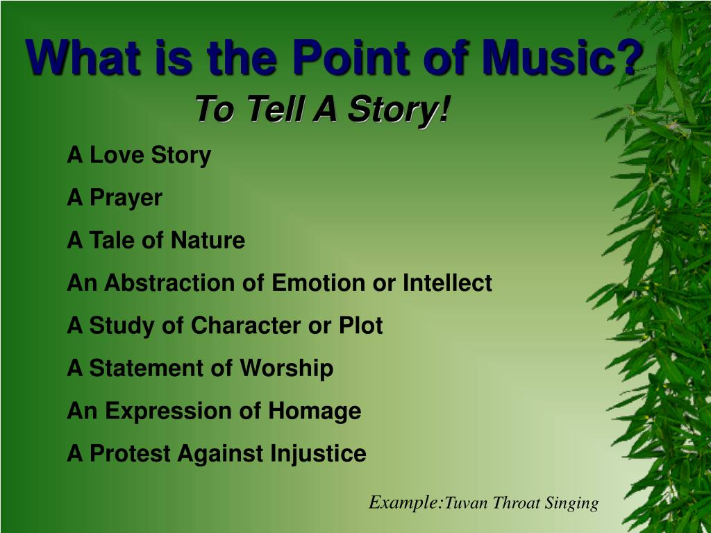What is the Point of Music?