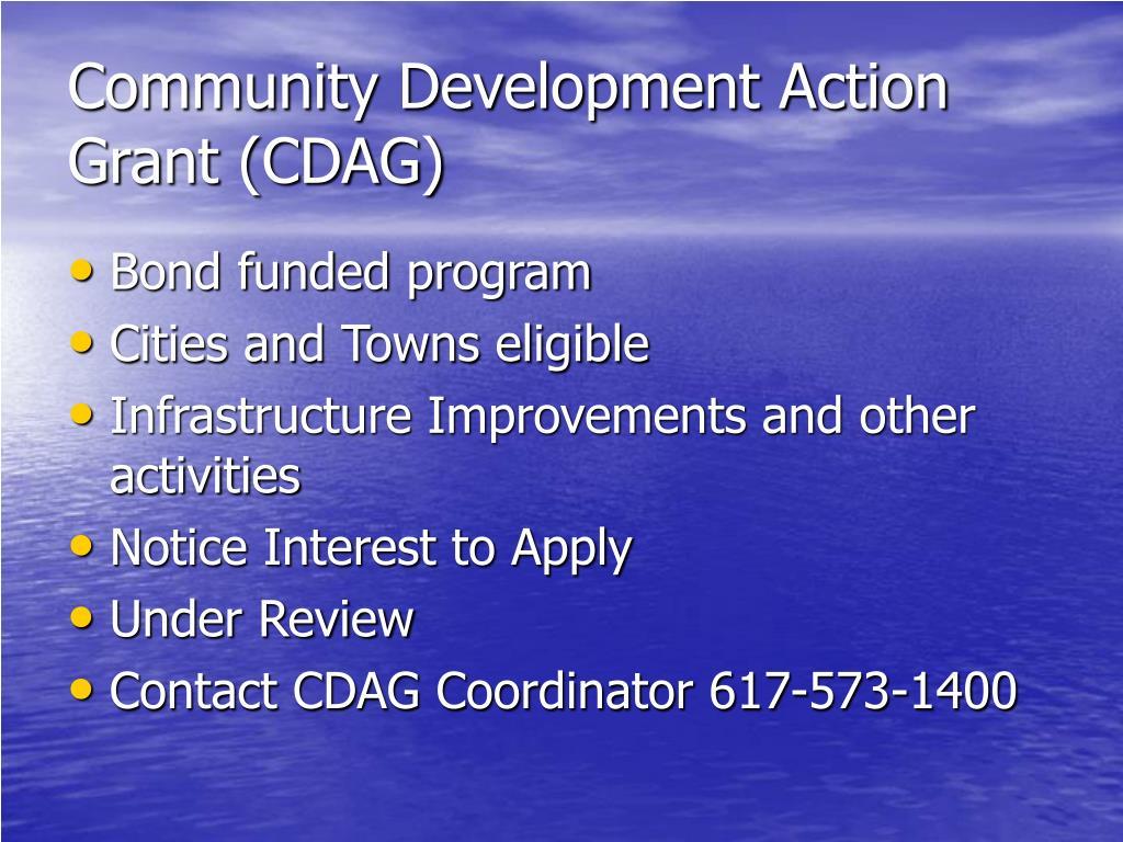 Community Development Action Grant (CDAG)