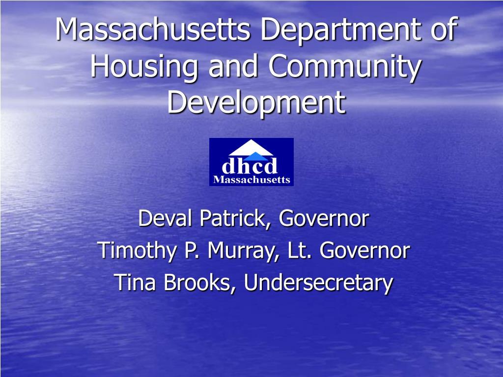 Massachusetts Department of Housing and Community Development