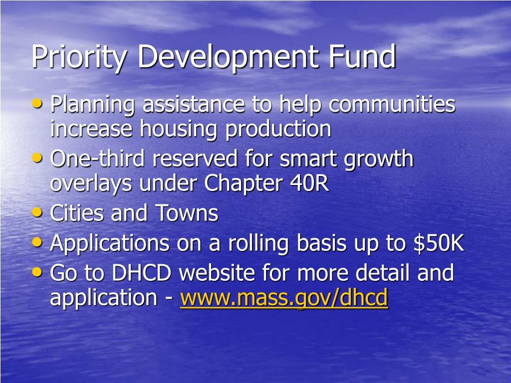 Priority Development Fund