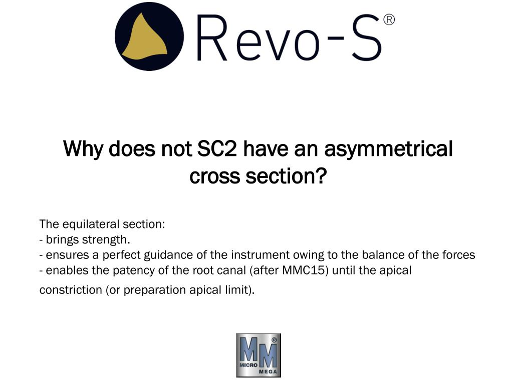 Why does not SC2 have an asymmetrical cross section?