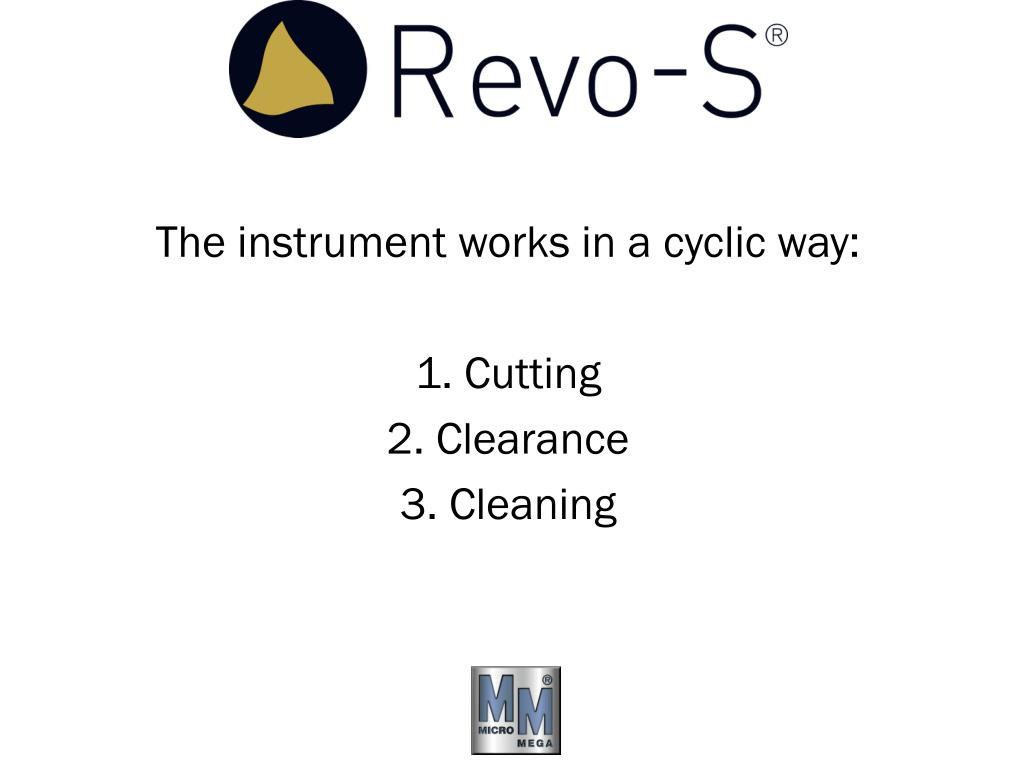 The instrument works in a cyclic way:
