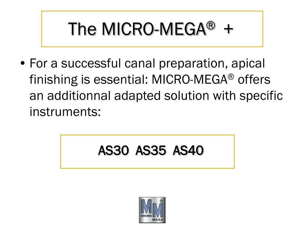 The MICRO-MEGA
