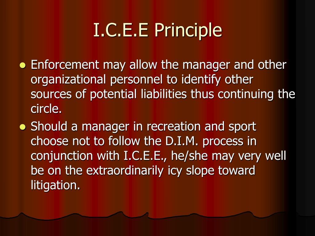 I.C.E.E Principle