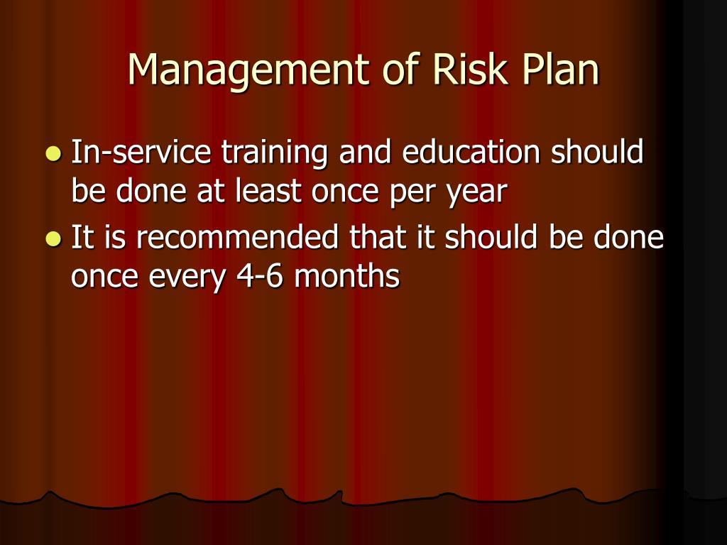 Management of Risk Plan