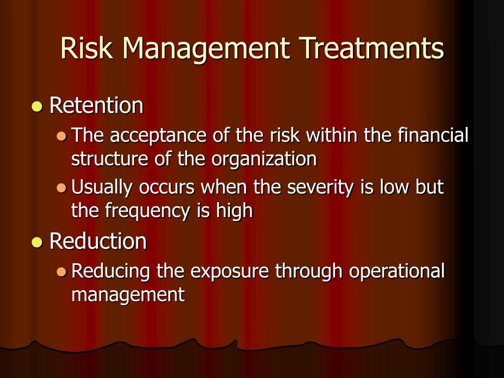Risk Management Treatments