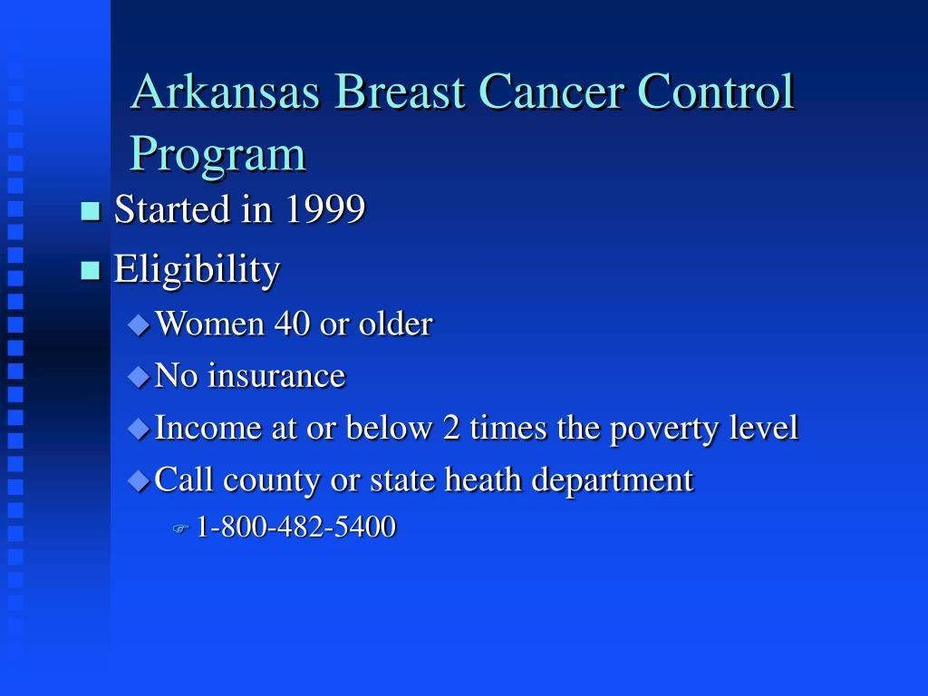 Arkansas Breast Cancer Control Program