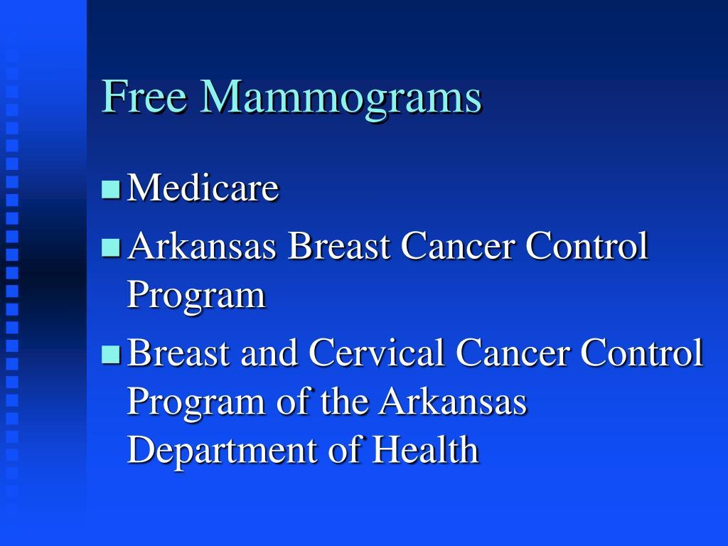 Free Mammograms