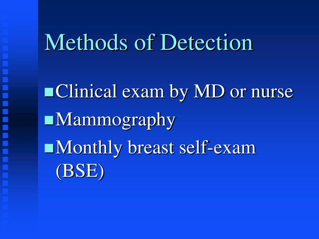 Methods of Detection
