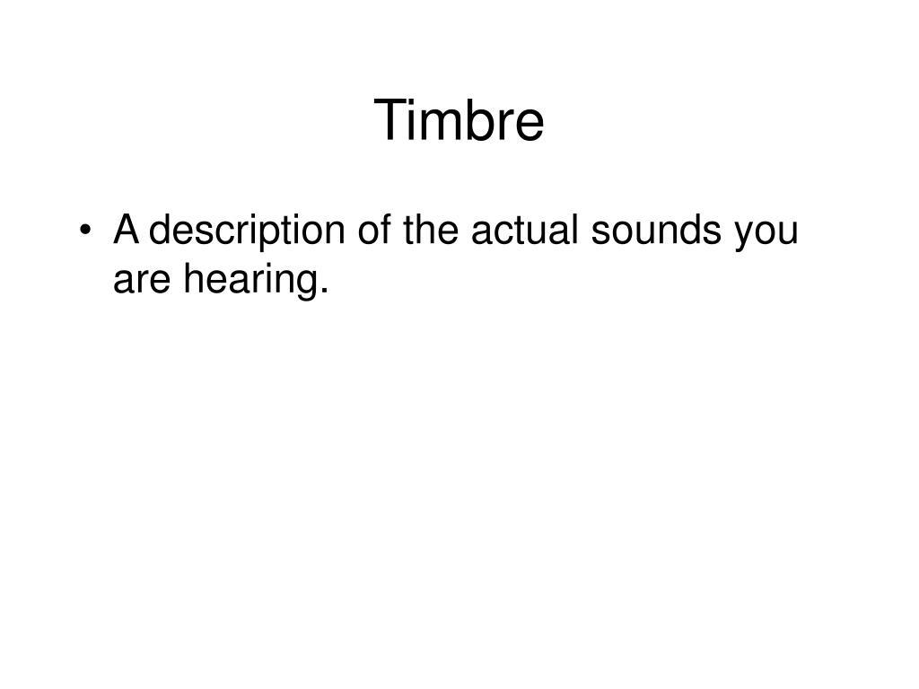 Timbre
