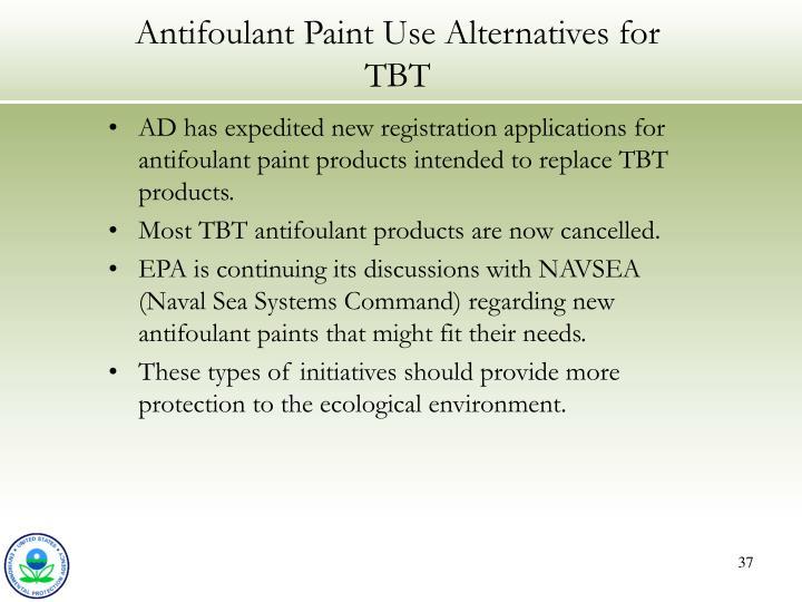 Antifoulant Paint Use Alternatives for TBT