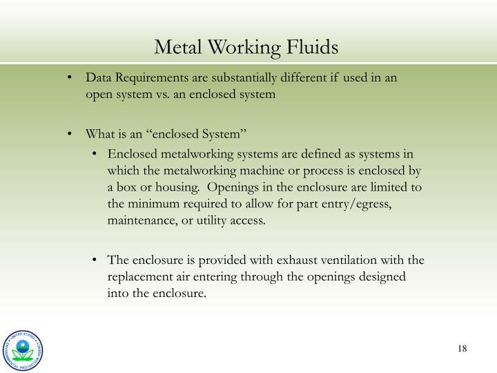 Metal Working Fluids