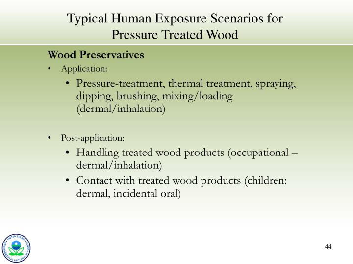 Typical Human Exposure Scenarios for Pressure Treated Wood
