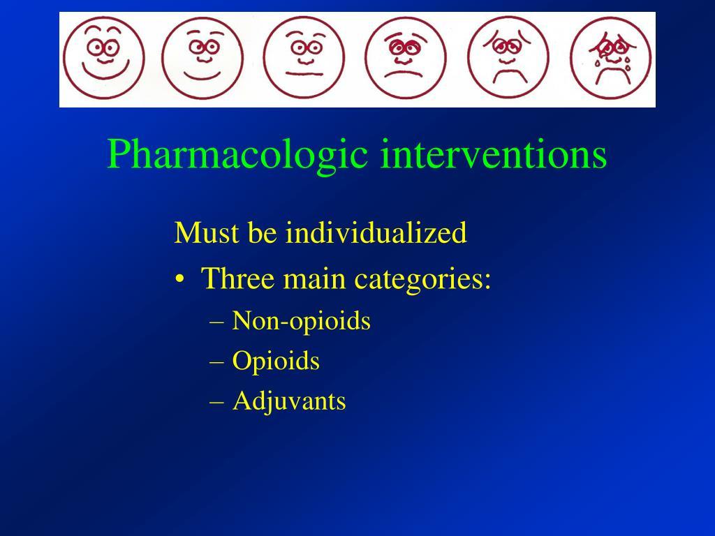 Pharmacologic interventions