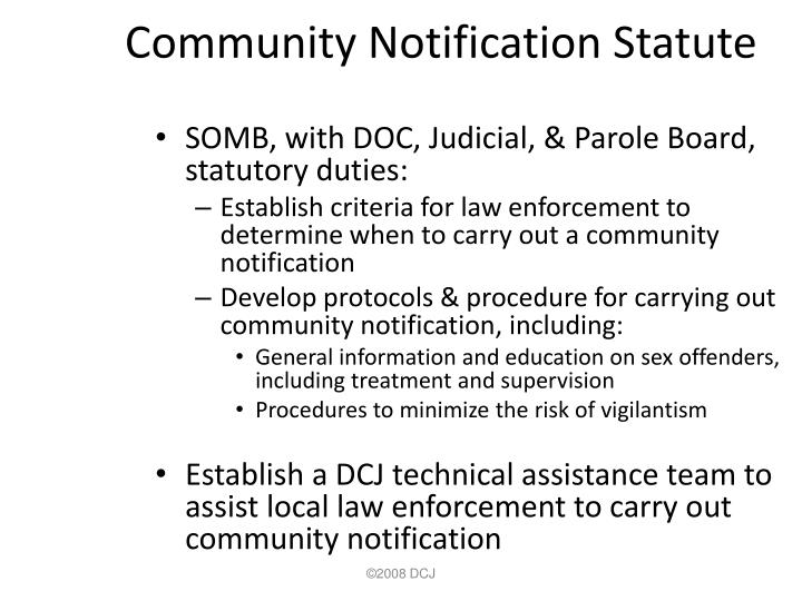 Community Notification Statute