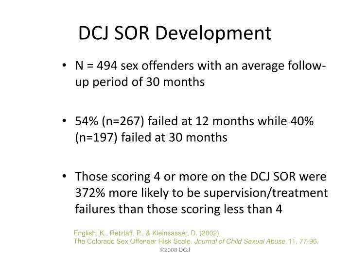 DCJ SOR Development