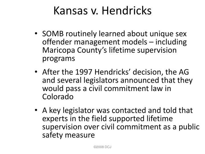 Kansas v. Hendricks