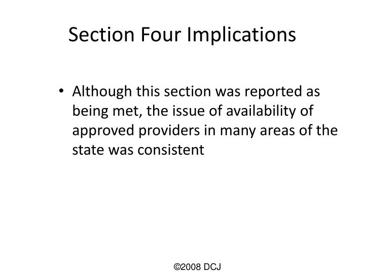 Section Four Implications