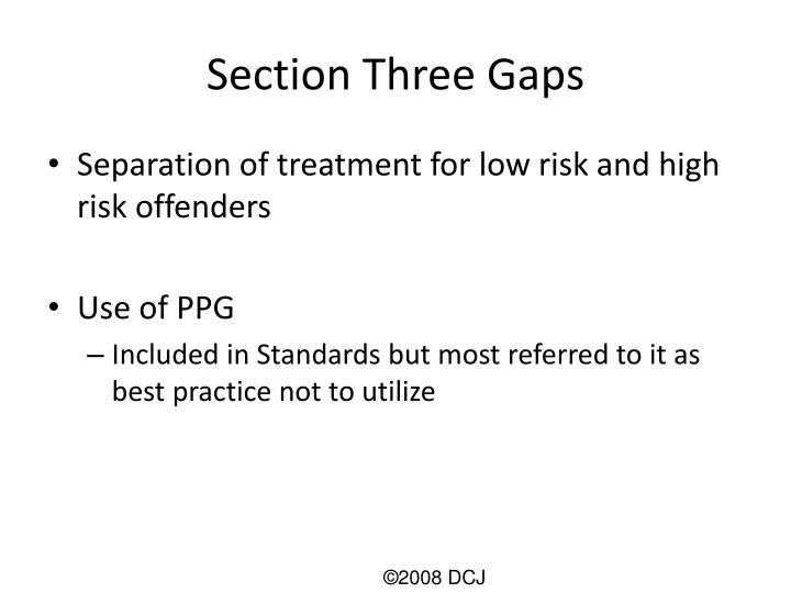 Section Three Gaps