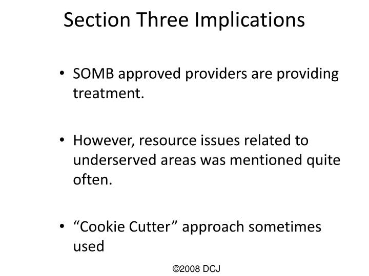 Section Three Implications