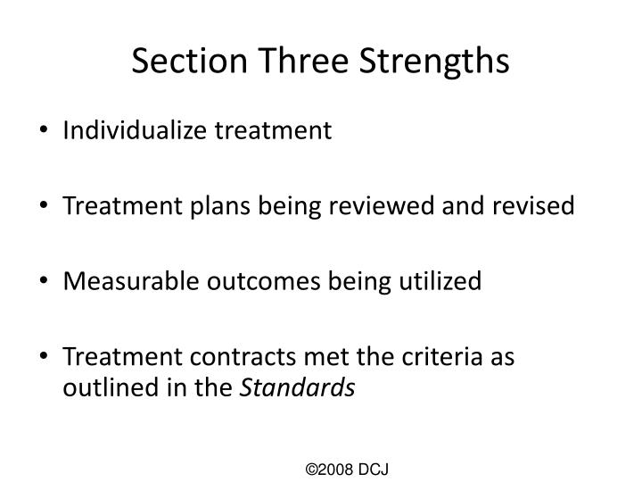 Section Three Strengths