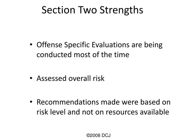 Section Two Strengths
