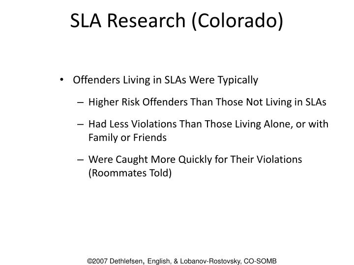 SLA Research (Colorado)
