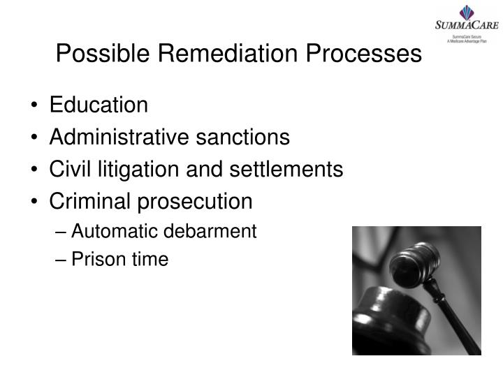 Possible Remediation Processes