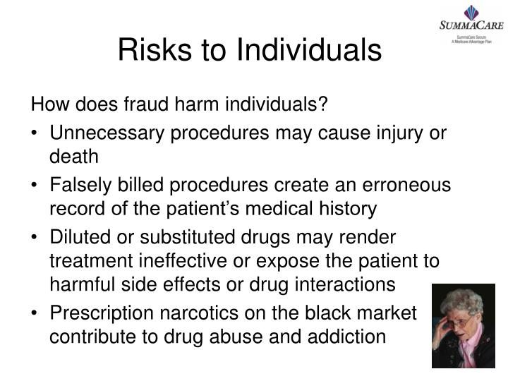 Risks to Individuals