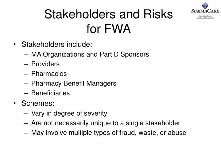 Stakeholders and Risks