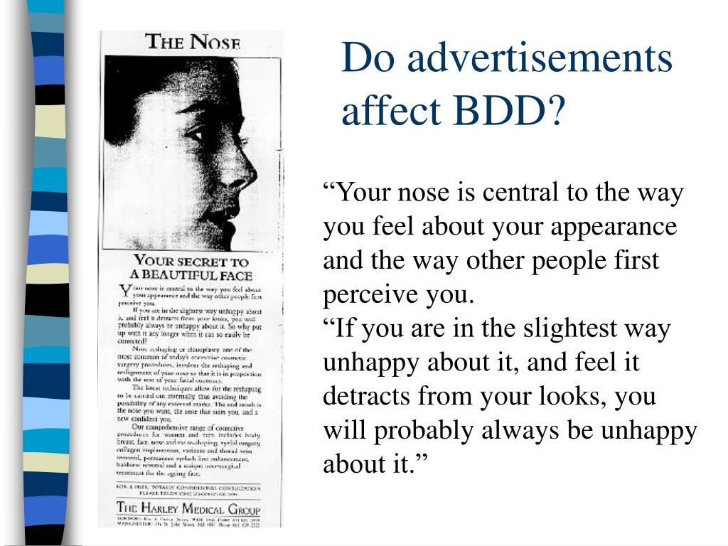 Do advertisements affect BDD?