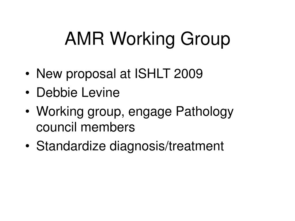 AMR Working Group