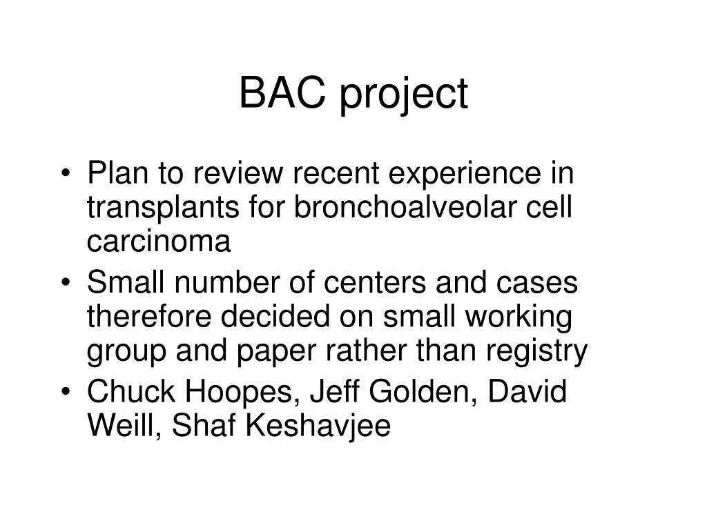 BAC project
