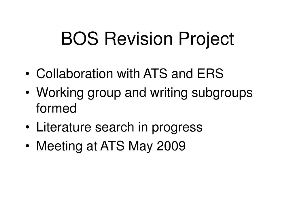BOS Revision Project
