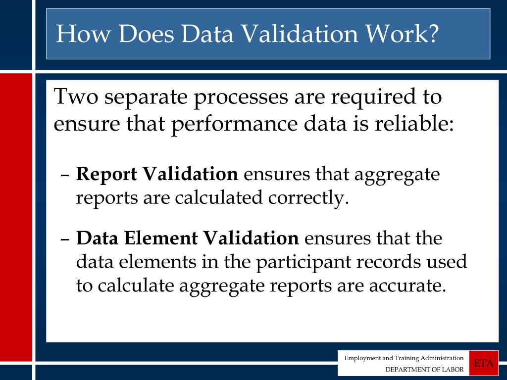 How Does Data Validation Work?