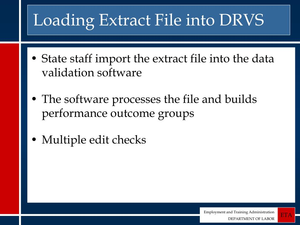 Loading Extract File into DRVS