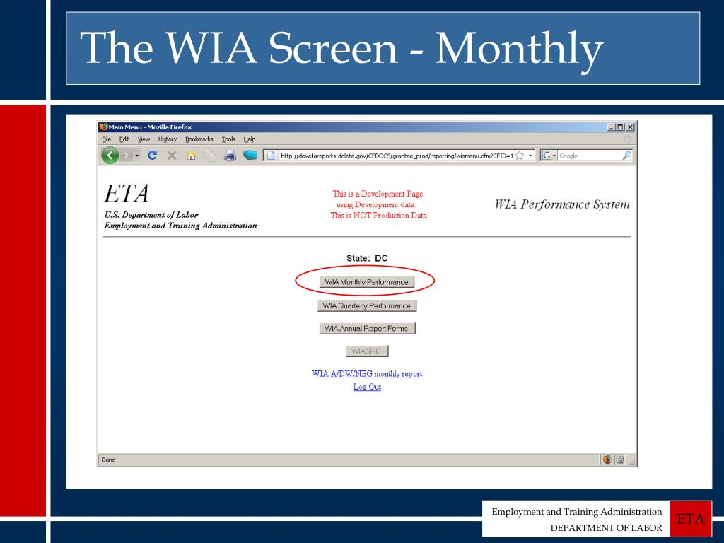 The WIA Screen - Monthly