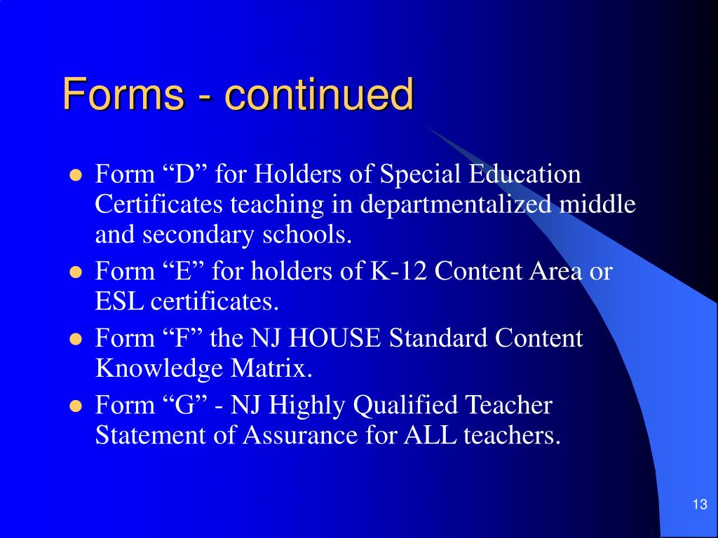 Forms - continued