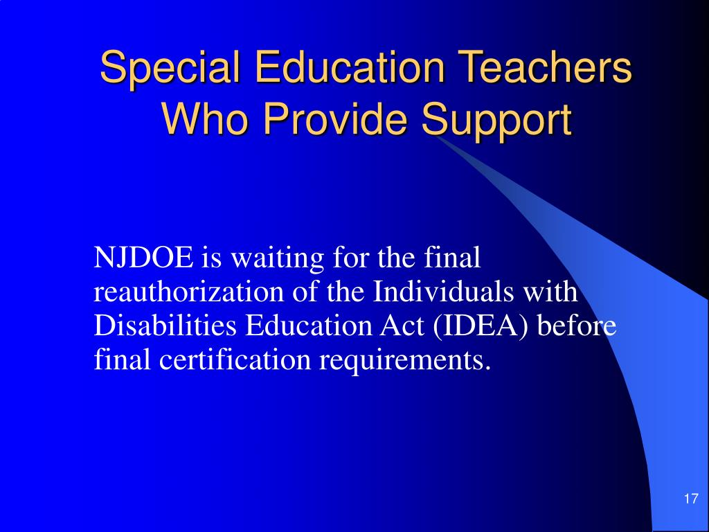 Special Education Teachers Who Provide Support