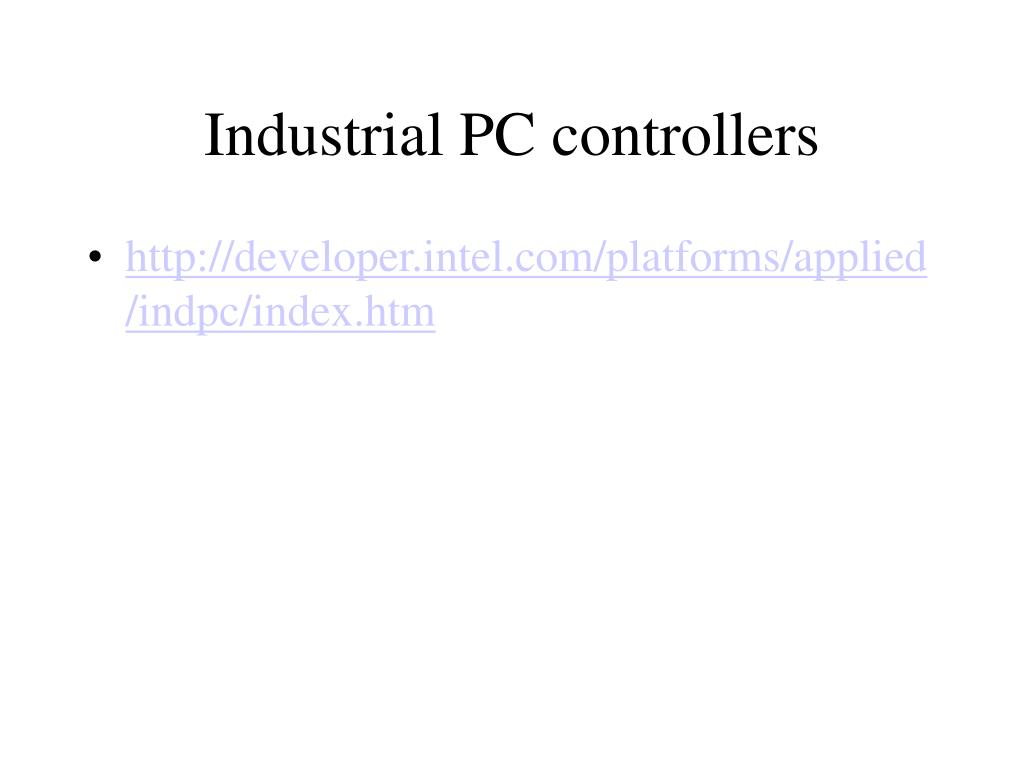 Industrial PC controllers