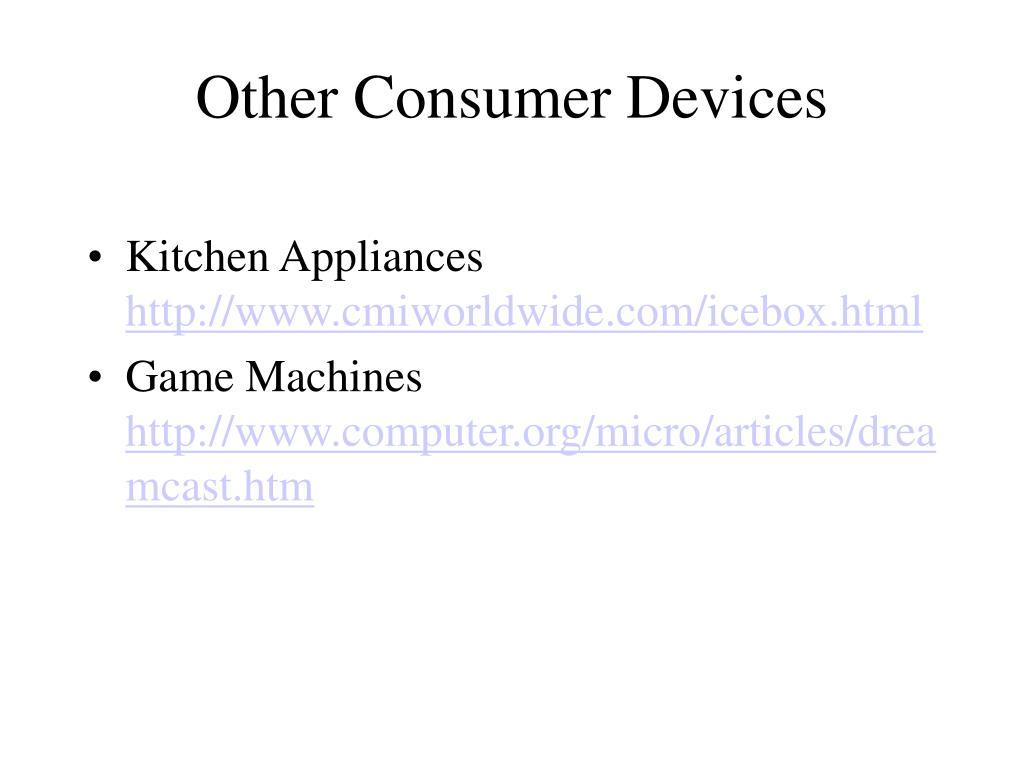 Other Consumer Devices