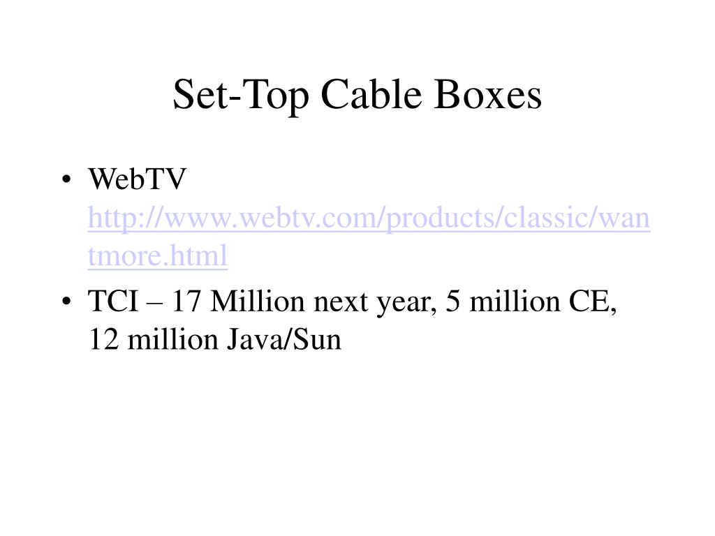Set-Top Cable Boxes