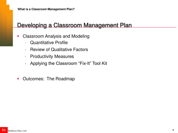 What is a Classroom Management Plan?