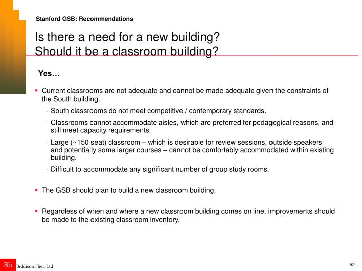 Stanford GSB: Recommendations