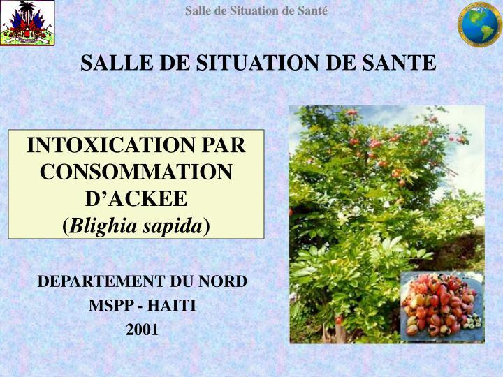 SALLE DE SITUATION DE SANTE