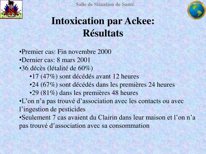 Intoxication par Ackee:
