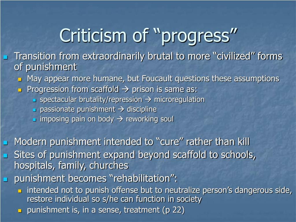 "Criticism of ""progress"""
