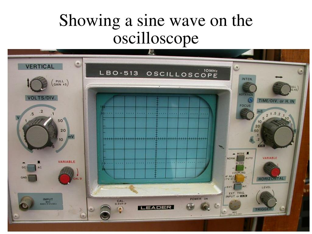 Oscilloscope Y Axis : Ppt pure tones and the sine wave powerpoint presentation