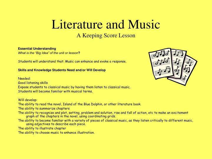 Literature and music a keeping score lesson2